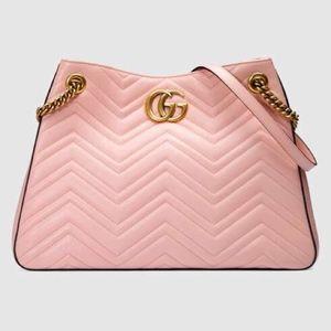Gucci GG Marmont Matelasse Pink Shoulder Bag NWT